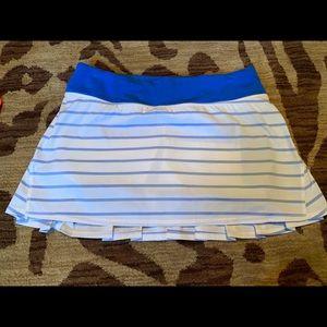 Lululemon quiet stripe pacesetter skirt.